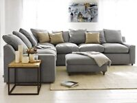 Brand New Packaged Corner Sofa With Footstool