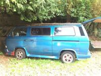 VW campervan, needs to be fitted out, all the stuff to do it is there, rock/ roll bed, kitchen etc