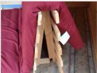 As new, double futon pine slats
