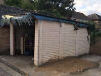 FREE Sectional garage, concrete single garage.