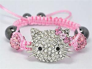 Charm Children Jewellery Baby Kids Shamballa Bracelet 10MM Crystal Beads gift
