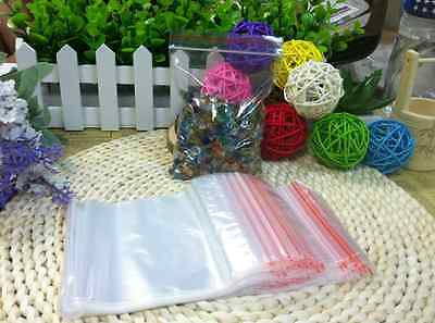 100 Zip Lock Bags 2mil Clear Plastic Seal Bag Reclosable Plastic Small Baggies