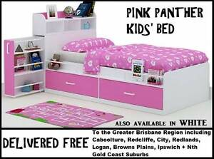 BRAND NEW Kids Girls Single Storage Bed - DELIVERED FREE New Farm Brisbane North East Preview