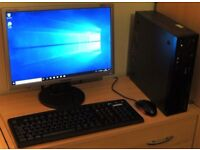 "Lenovo Windows 10 Pro Slim PC Computer/WIFI/4GB RAM/250GB/19"" Monitor"
