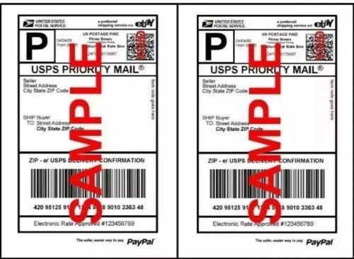 UPS MADE 1000 SHIPPING LABELS HALF SHEET 2 PER SHEET 8.5 X 1