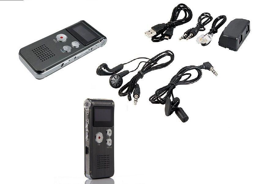 REGISTRATORE AUDIO VOCALE PORTATILE MP3 USB DIGITALE VOICE RECORDER MEMORIA 8 GI