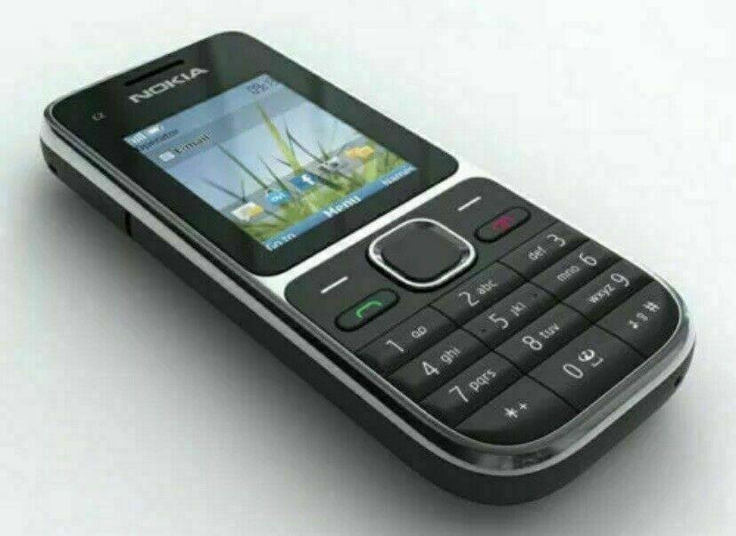 Android Phone - Nokia C2-01 - Black (Unlocked) Mobile Phone- warranty- free return.