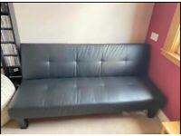 Black 'click clack' sofa bed (£80- open to offers)