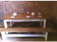 solid dining table set
