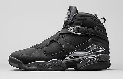 2015 Nike Air Jordan 8 VIII Retro Black Chrome Size 16. 305381-003 1 2 3 4 5 6 - 5 8 Size 16