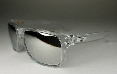 OAKLEY clear/chrome iridium HOLBROOK OO9102-06 sunglasses NEW IN BOX! AUTHENTIC!