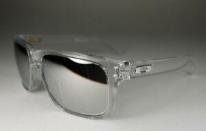 OAKLEY clear/chrome iridium HOLBROOK OO9102-06 sunglasses NEW IN BOX! AUTHENTIC!