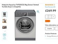 BRAND NEW - STILL BOXED - HOTPOINT AQUARIUS TVFS 83CG 8KG TUMBLE DRYER