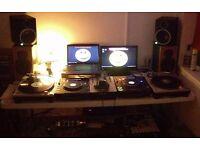 pair Technics 1200s MK2 + pioneer 707 mixer