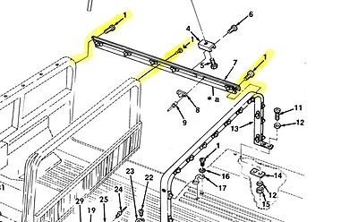Hmmwv Soft Top Rail Mounting s (for 2 And/or 4 Man Soft Top Rails) on