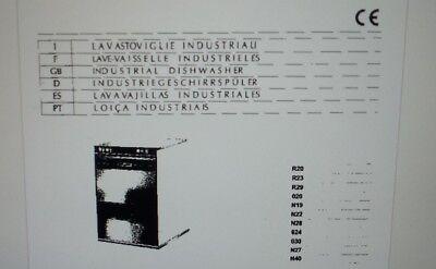 manuale utente lavastoviglie industriale varie lingue su carta formato a4
