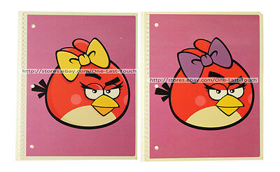 ANGRY BIRDS One Subject SPIRAL NOTEBOOK Wide Ruled MEAD For