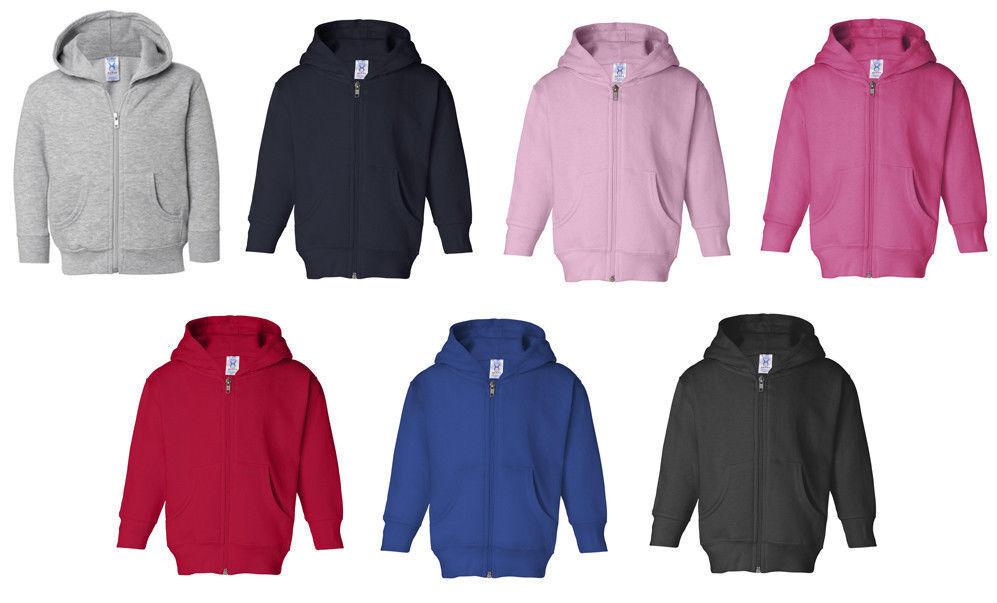 b0a4ab36 Details about Rabbit Skins Zip Hooded Sweatshirt Jumper Hoodie Infant  Toddler 6M-18M 2T 4T 5/6