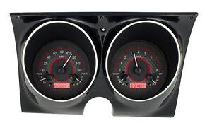 67 camaro gauges 1967 68 chevrolet camaro firebird dakota digital carbon fiber red vhx gauge kit fits 1967 camaro