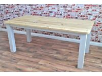 Farmhouse Rustic Reclaimed Table Bench Kitchen Island Chairs