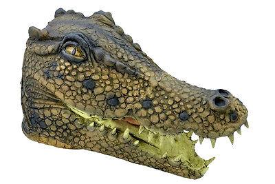Ganzer Kopf Latex Dinosaurier Krokodil Alligator Kostüm Maske Neu