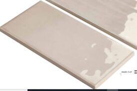 TALIAN TONALITE BONE 20 KITCHEN/BATHROOM WALL TILES 10 x 20cm x 9mm Thick(1 sqm) Box