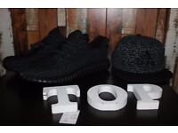 Brand New Black Yeezy 350 Trainers Boost