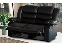 Seville 3 and 2 seat Leather Recliners