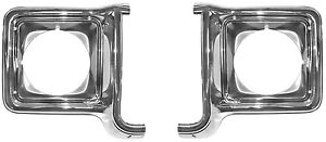 1973 1974 1975 1976 1977 1978 CHEVROLET TRUCK CHROME HEADLIGHT BEZEL SET OF TWO