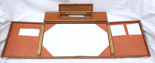 LEATHER TRAVEL (OR HOME) WRITING DESK - vintage, antique, men