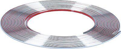 Auto 3M Chrom Zierleiste 8 m lang 6 mm breit 3 mm hoch wetterfest UV-resistent