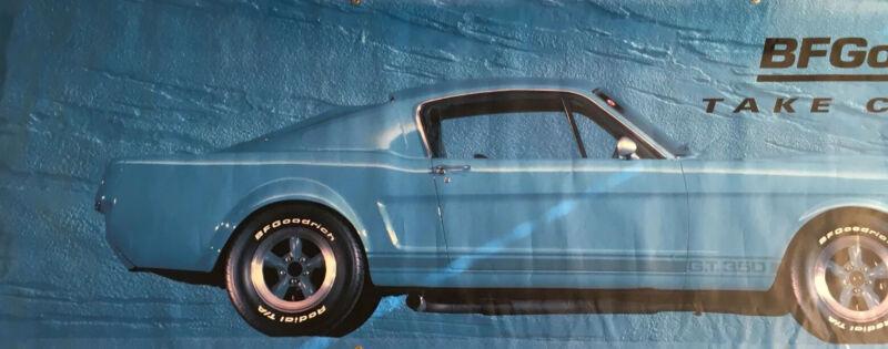 Orginal BF Goodrich Tires Ford Mustang Fastback GT350 Banner. 3'X9, 13 oz Vinyl.