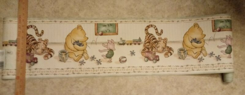 Classic Winnie the Pooh 5 yds pre pasted wall border wallpaper new