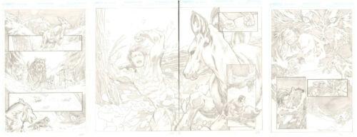 Feral Wolverine hunts a Deer 4pg Pencil Story - art by Idan Knafo Kerbis