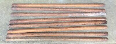 ANTIQUE wooden stair rods - 8 x 31 inches (78.75 cm)