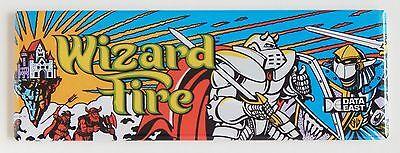 Wizard Fire Marquee FRIDGE MAGNET (1.5 x 4.5 inches) arcade video game header ()
