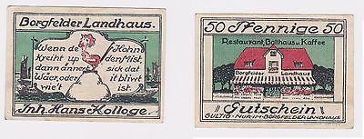 50 Pfennig Banknote Notgeld Borgfelder Landhaus Bremen o.D. (1921) (121316)