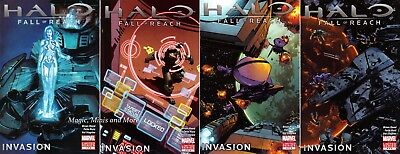 HALO: Fall of Reach - INVASION (4) Comic Set #1 2 3 4 Marvel 1st print