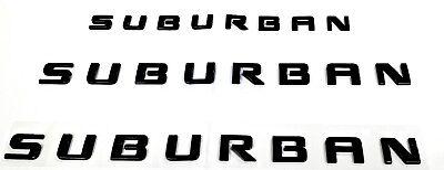 Chevrolet Suburban GM Black Emblems 2 Door Emblem & 1 Liftgate Emblem OEM New GM