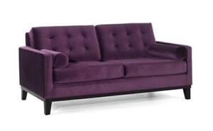 LOOKING COUCH FOR BUY - MICROFIBER COUCHES FOR SALE , ALSO HAVE GREY STUDDED COUCH (BD-1272)