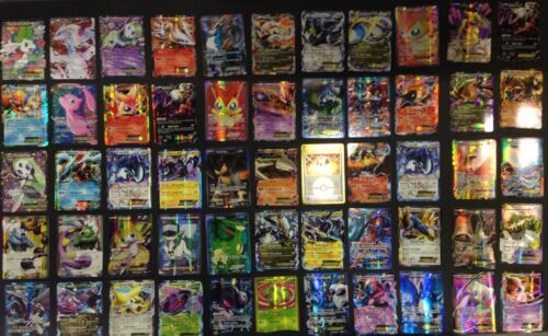 Pokemon TCG : 50 CARD LOT RARE, COMMON, UNC, HOLO & GUARANTEED EX OR FULL ART