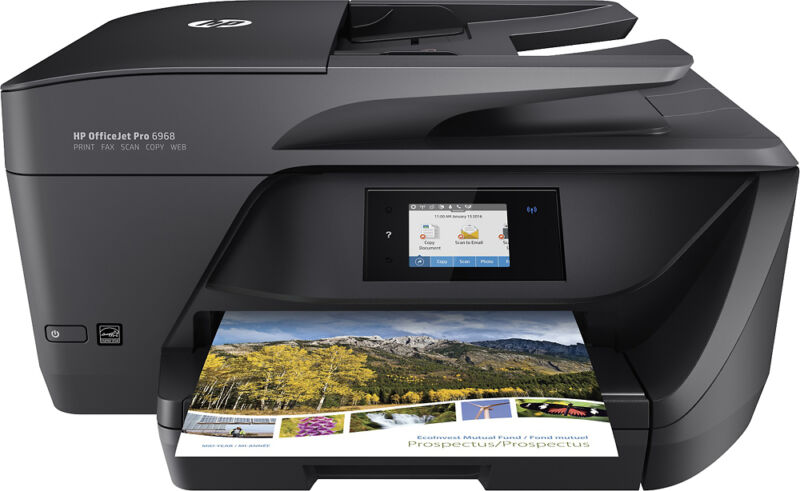 HP - OfficeJet Pro 6968 Wireless All-In-One Instant Ink Ready Printer