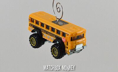 Yellow Monster Truck 4X4 School Bus Custom Christmas Ornament 1 64Th Adorno