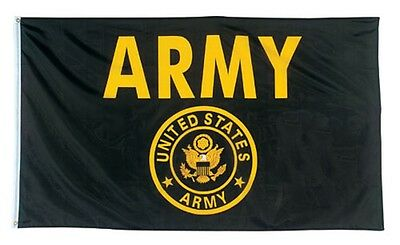 3 X 5 BLACK Flag United States ARMY 3' X 5' US Airborne Infantry Armor Cavalry