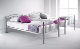 METAL BUNK BED ON SPECIAL OFFER AVAILABLE IN DIFFERENT COLOURS