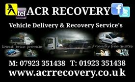 Car Recovery Watford   ACR RECOVERY   Lowest Priced - Fully Insured