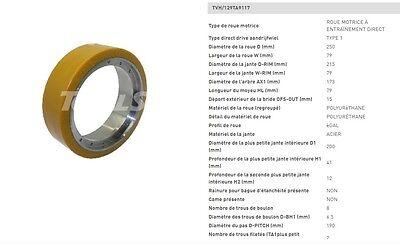 Wheel Cogs Vulkollan 250 80 8 1532in 8 Hole Holder Pallet Truck Stackers 35cm