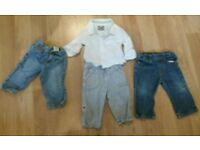 Boys Timberland jeans x 2 and autograph shirt / trousers all aged 12 months