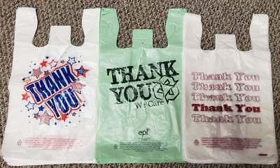 Thank You Plastic Shopping T-shirt Bags 11.5 X 6 X 21 Americanastyles Colors