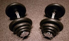 **£40** Set of Dumbells (40kg)